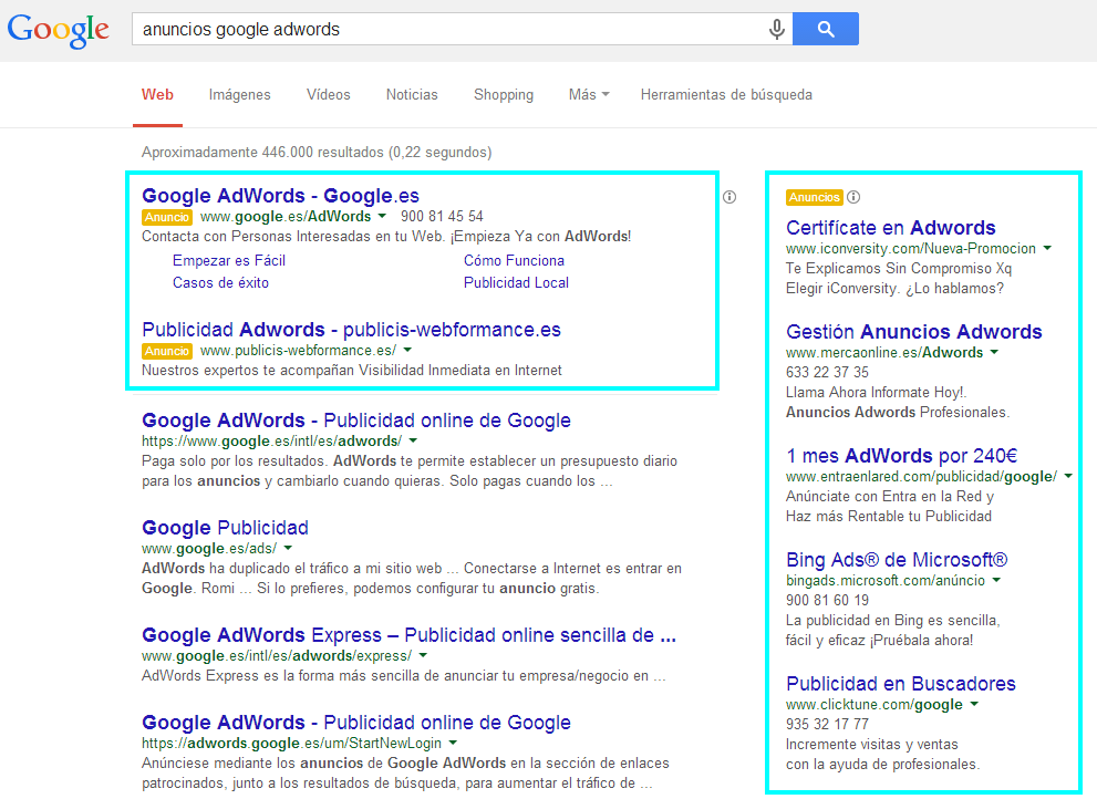 Google Adwords Extremadura